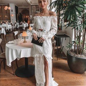 Rachel Zoe Collection White Off the Shoulder Dress